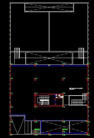 فایل اتوکد پلان معماری زیر زمین اول مجتمع مسکونی 4 طبقه , هر طبقه 4 واحد با مبلمان کامل قابل ویرایش
