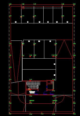 فایل اتوکد پلان معماری زیر زمین دوم مجتمع مسکونی 4 طبقه , هر طبقه 4 واحد با مبلمان کامل قابل ویرایش