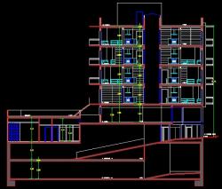 فایل اتوکد برش مجتمع مسکونی 4 طبقه کامل قابل ویرایش