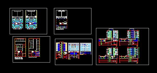 پروژه کامل اتوکد مجتمع مسکونی 4 طبقه , هر طبقه 4 واحد دارای 3 زیر زمین , دارای نما و برش قابل ویرایش