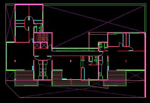 فایل اتوکد پلان معماری تیپ طبقات مجتمع مسکونی 8 طبقه , هر طبقه 3 واحد با مبلمان کامل قابل ویرایش
