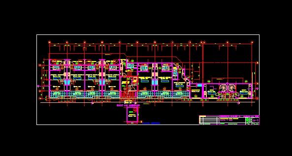 فایل اتوکد پلان معماری طبقه همکف مجتمع خوابگاه دانشجویی 3 طبقه با مبلمان کامل قابل ویرایش