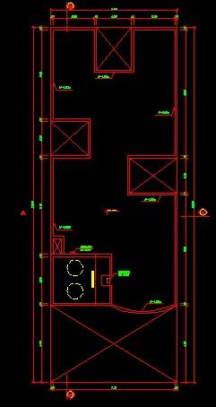 فایل اتوکد پلان معماری بام منزل مسکونی 3 طبقه با مبلمان کامل قابل ویرایش