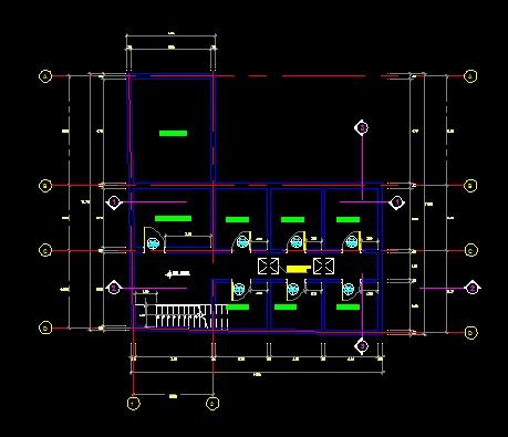 فایل اتوکد پلان معماری طبقه زیر زمین آپارتمان 6 طبقه با اندازه گذاری کامل قابل ویرایش