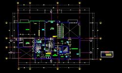 فایل اتوکد پلان معماری تیپ طبقات آپارتمان 6 طبقه با مبلمان و اندازه گذاری کامل قابل ویرایش