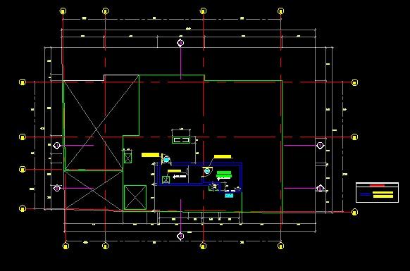 فایل اتوکد پلان معماری بام آپارتمان 6 طبقه با اندازه گذاری کامل قابل ویرایش