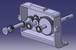 طراحی و مونتاژ گیرب کاهنده دستگاه تراش در نرم افزار کتیا