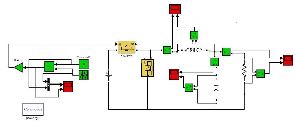 گزارش پروژه درس الکترونیک قدرت  ( مبدل باک)